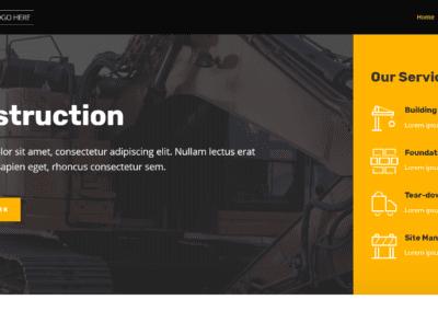 Construction Company Template